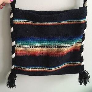 Mexican blanket boho crossbody purse